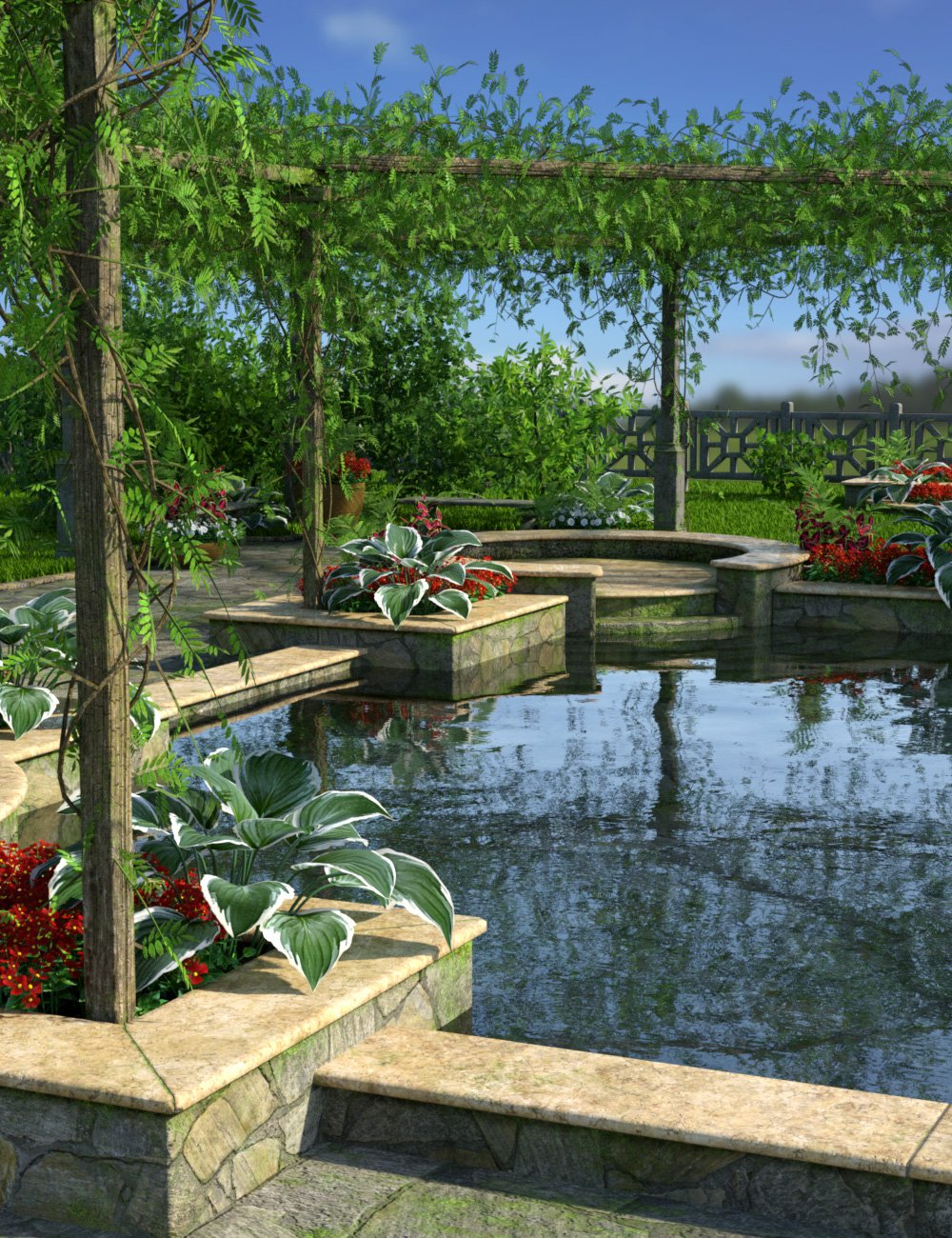 Romantic Pool by: esha, 3D Models by Daz 3D