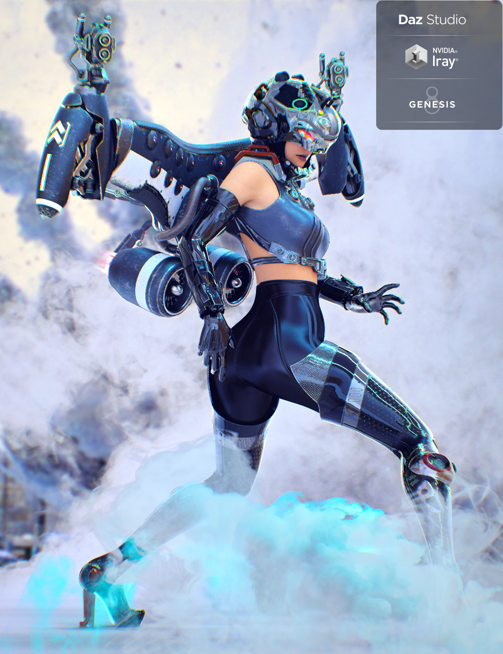 """Jet Pack """"Hyoga"""" for Genesis 8 Female by: chungdan, 3D Models by Daz 3D"""