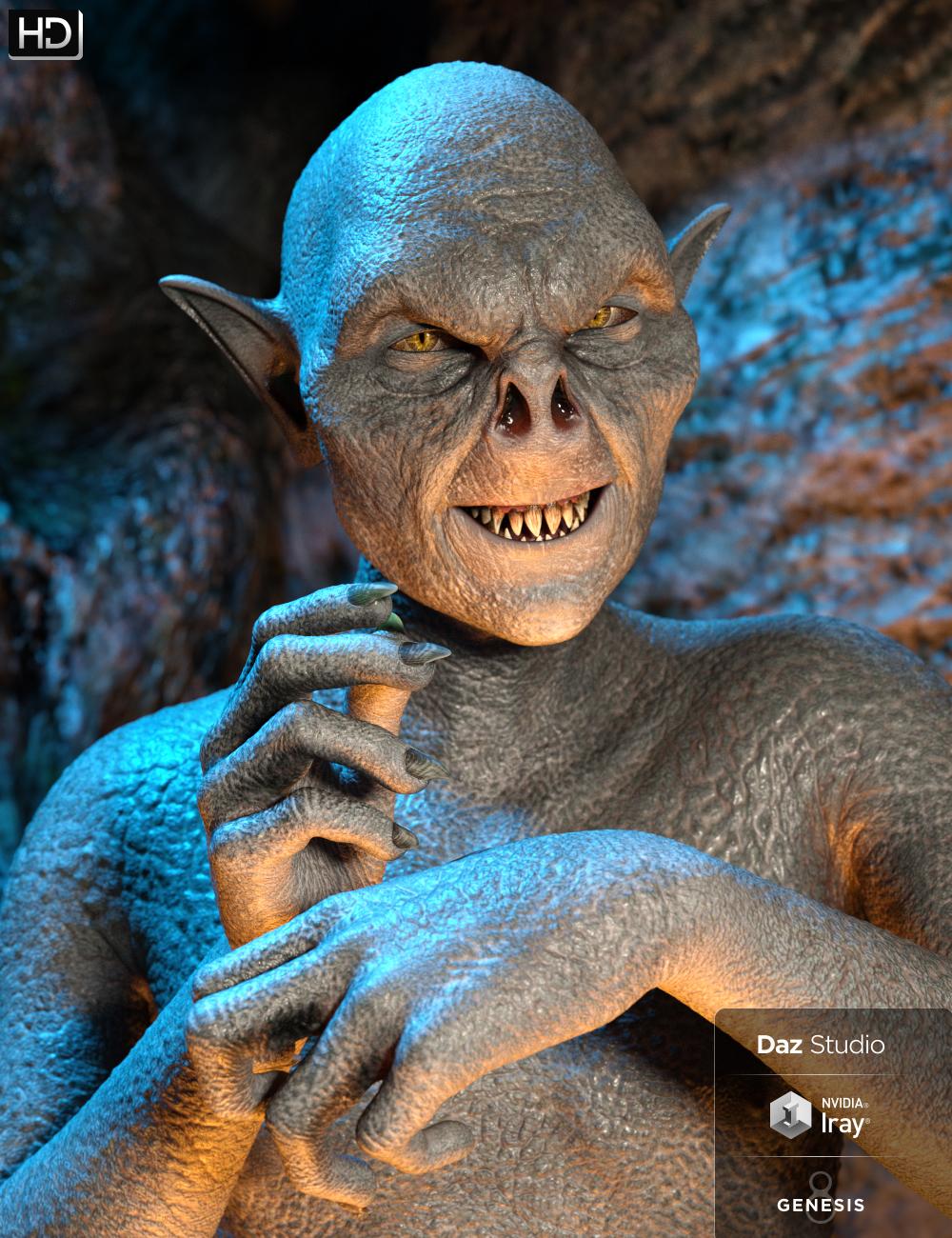 Goblin Raider HD for Genesis 8 Male by: Groovy Patrol, 3D Models by Daz 3D