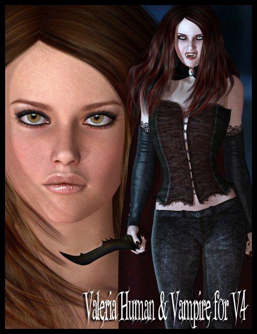 Valeria for V4 by: maelwenn, 3D Models by Daz 3D