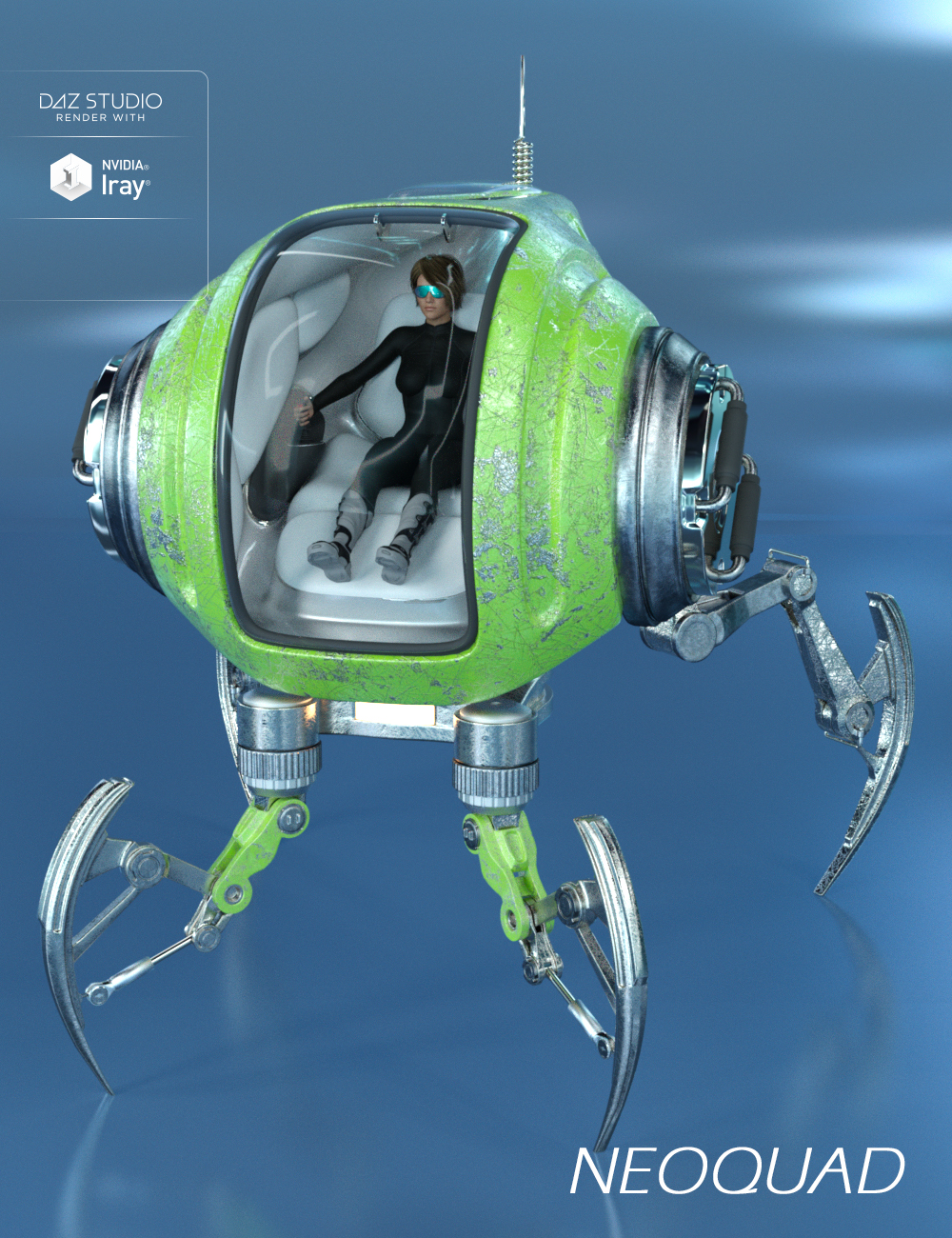Neoquad by: Human, 3D Models by Daz 3D