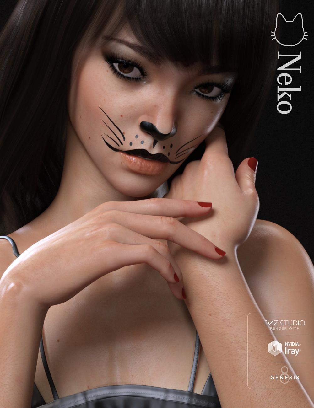 Neko HD for Genesis 8 Female by: Raiya, 3D Models by Daz 3D