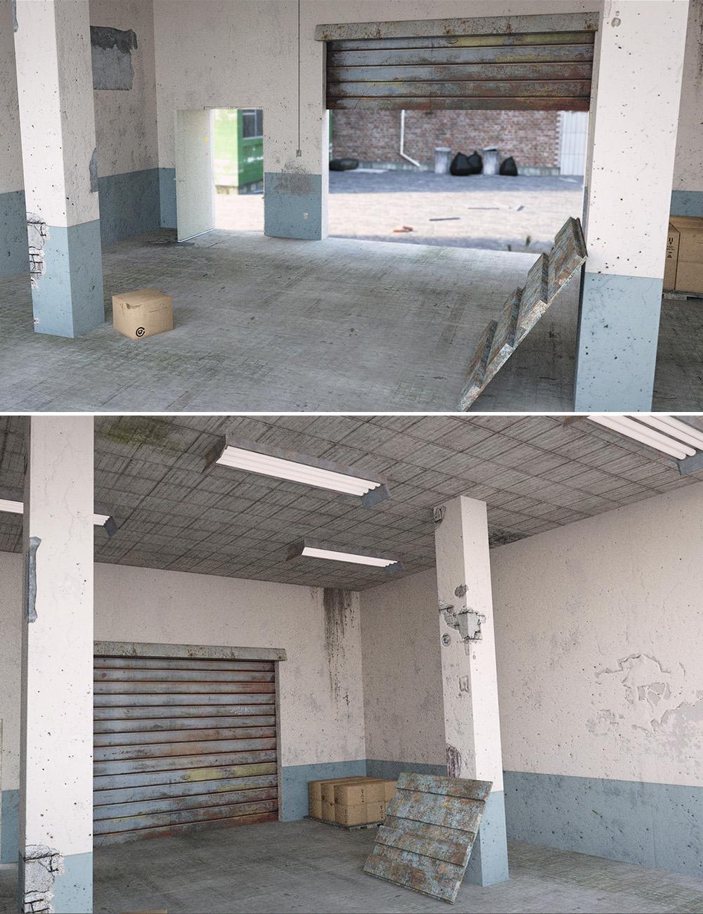 Industrial Storage Unit Interior by: , 3D Models by Daz 3D