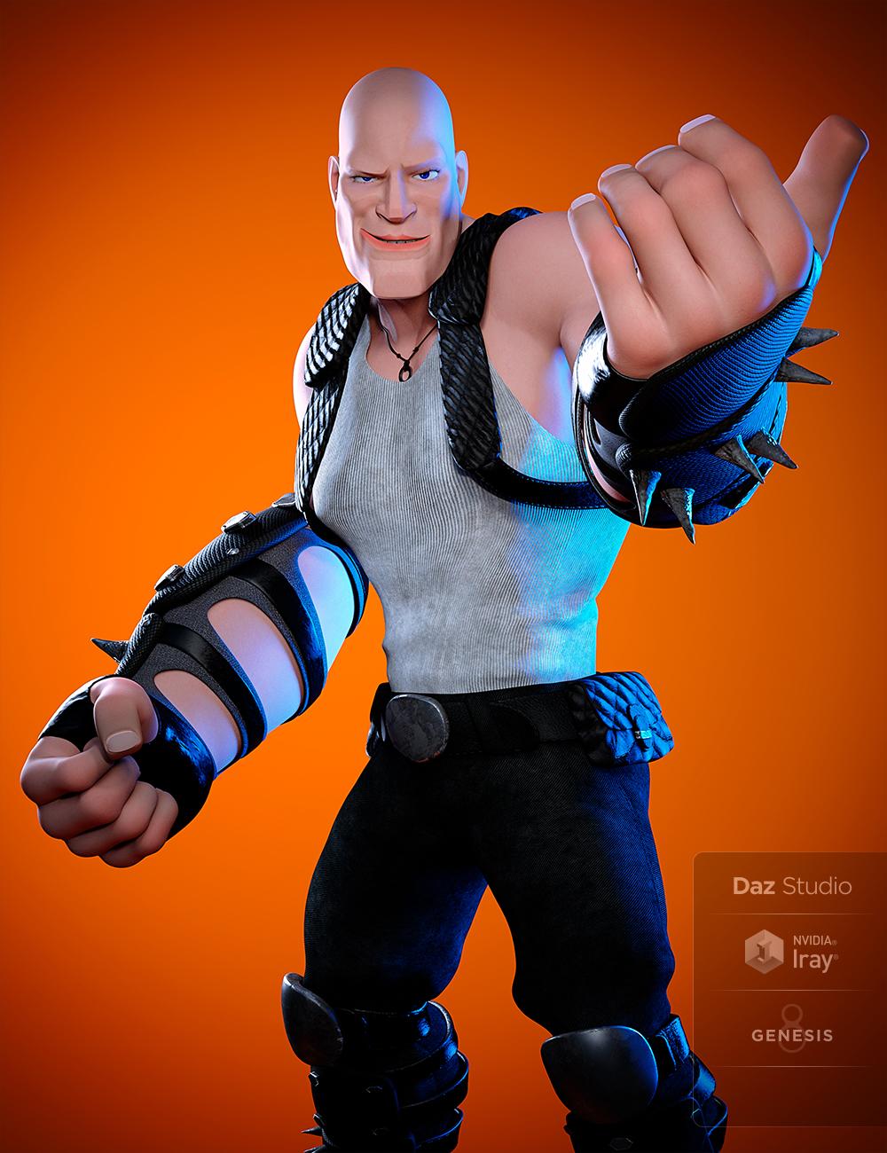 Toon Dwayne 8 by: , 3D Models by Daz 3D
