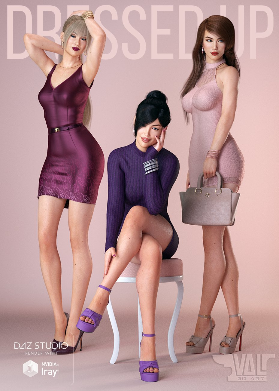 DressUp Collection Outfits and Poses for Genesis 8 Female by: Val3dart, 3D Models by Daz 3D