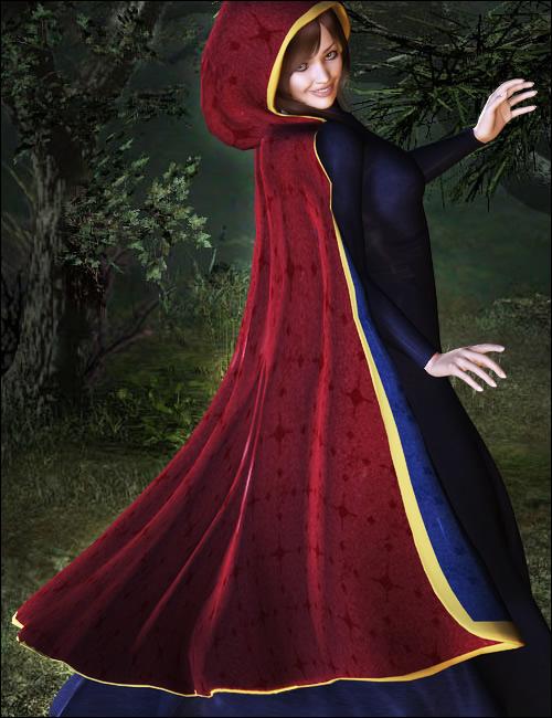 V4 Hooded Cloak by: , 3D Models by Daz 3D