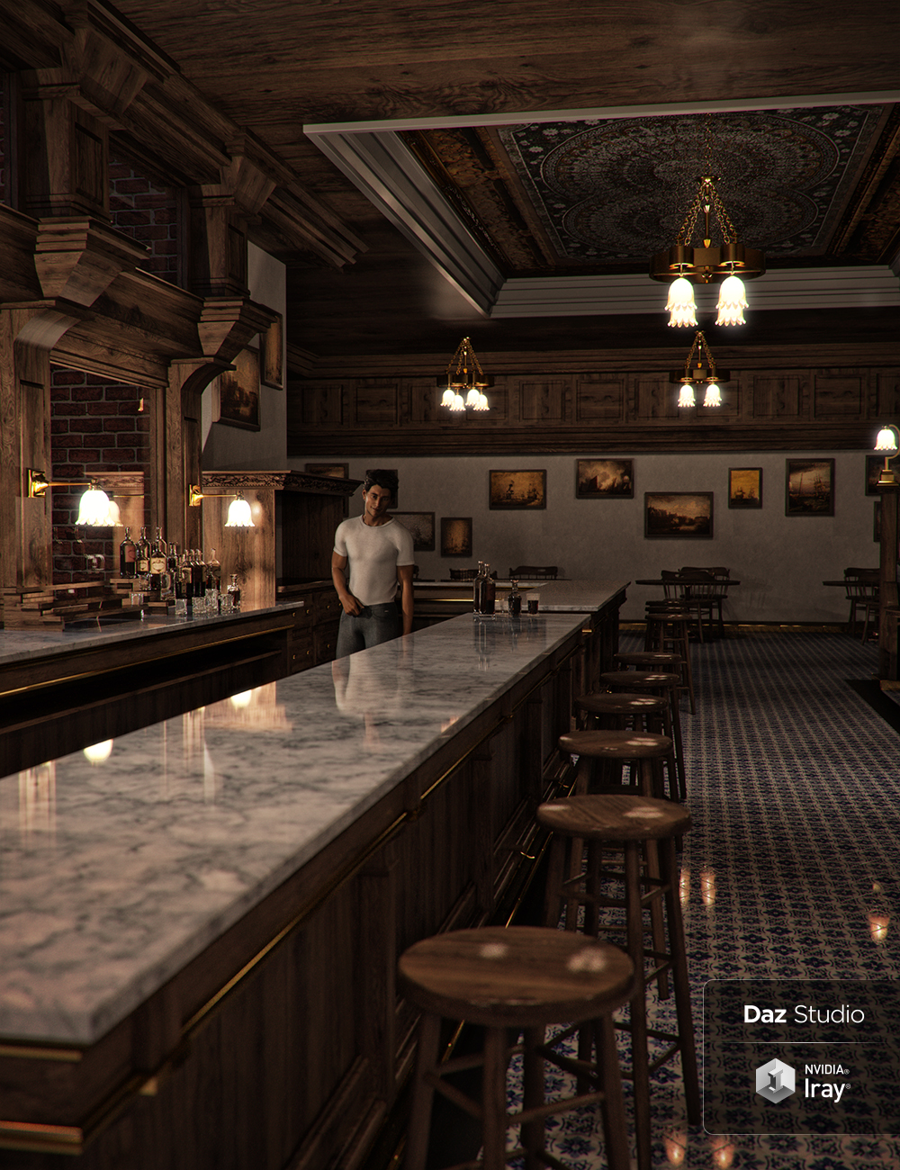 Bar Interior 2018 by: SoulessEmpathy, 3D Models by Daz 3D