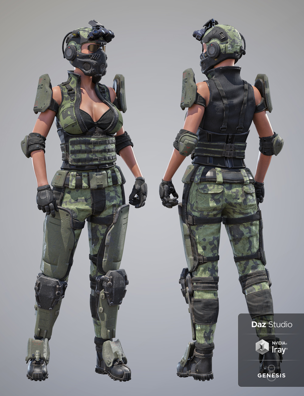 Tactical Assault Outfit Texture Expansion Pack by: Herschel Hoffmeyer, 3D Models by Daz 3D