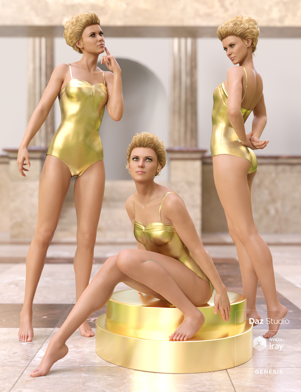 Classic Hollywood Poses for Genesis 8 Female and Penny 8 by: Devon, 3D Models by Daz 3D