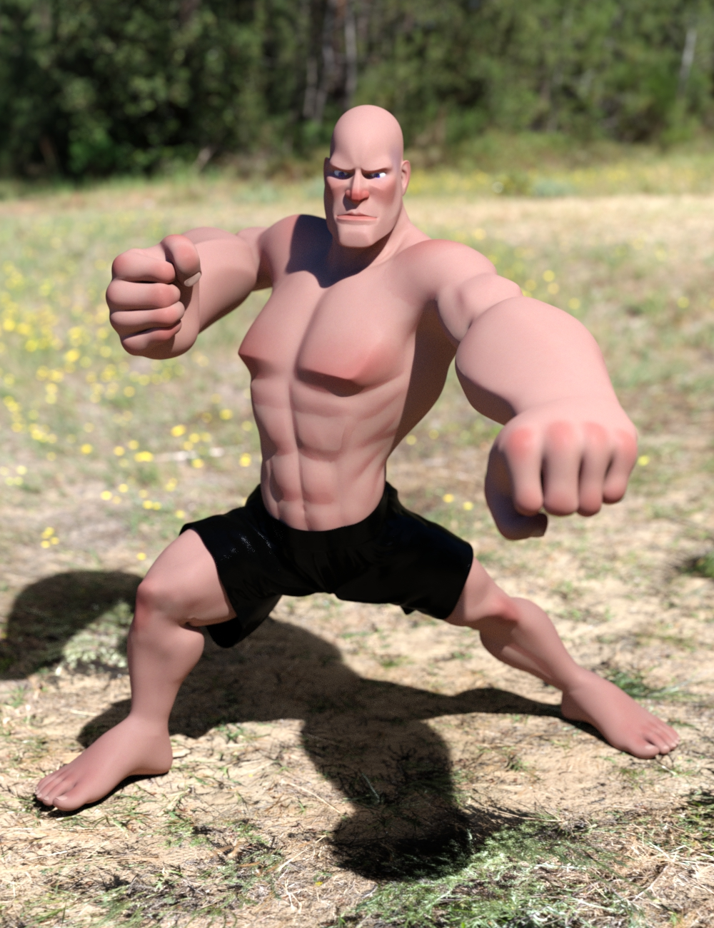 Ultimate Hero Poses for Toon Dwayne 8 by: ImagineX, 3D Models by Daz 3D