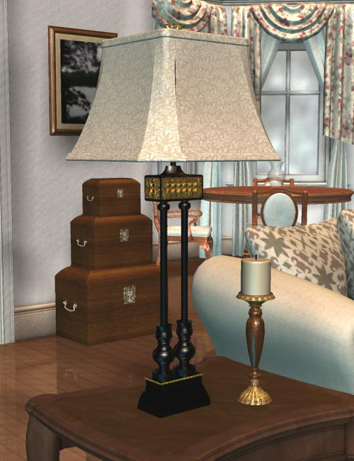 Dream Home: Great Room Details by: IsauraS, 3D Models by Daz 3D