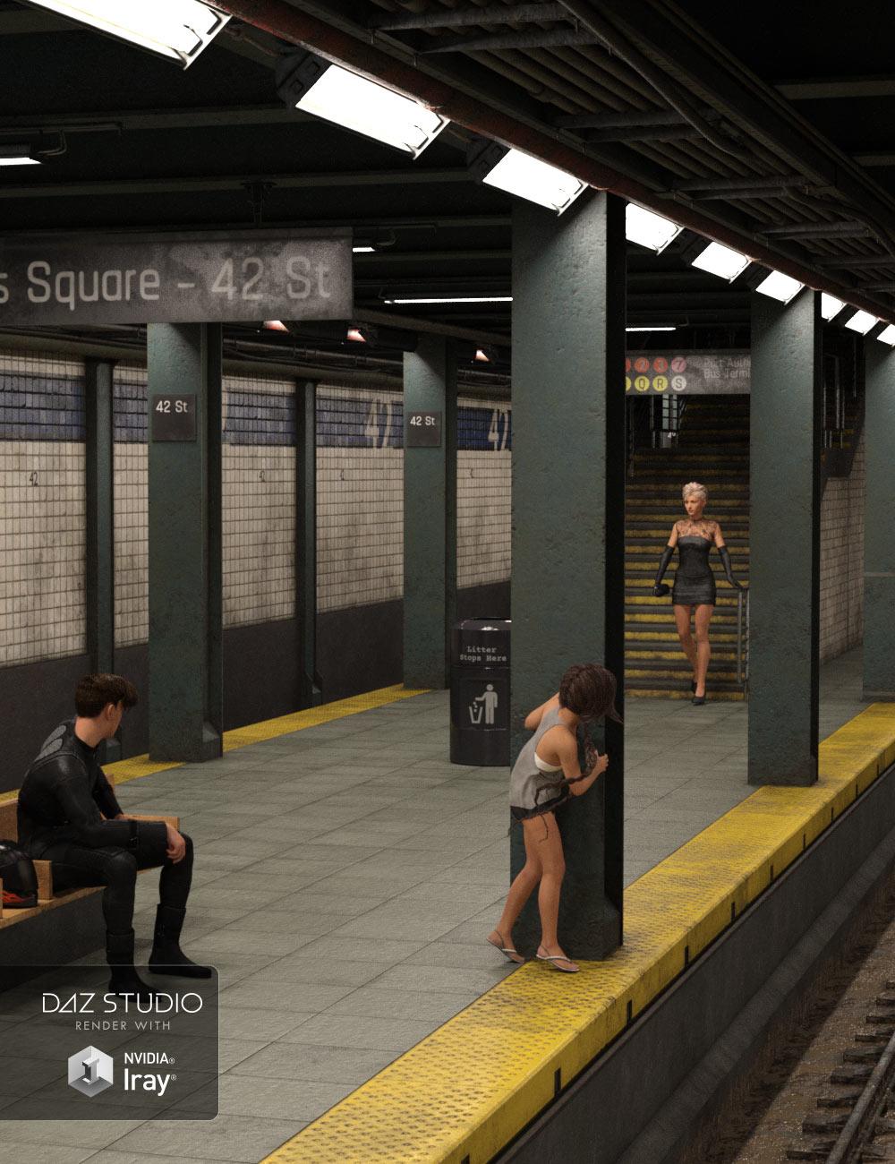 Subway Station by: ile-avalon, 3D Models by Daz 3D