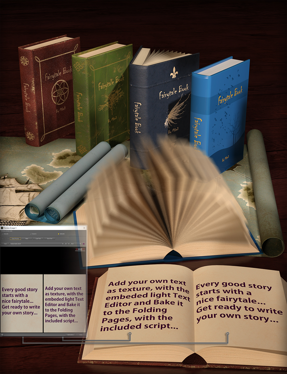 The Fairytale Book by: MikeD, 3D Models by Daz 3D