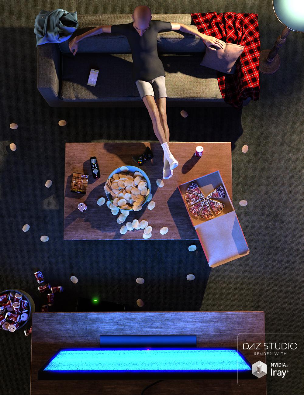 Couch Potato Props by: Predatron, 3D Models by Daz 3D