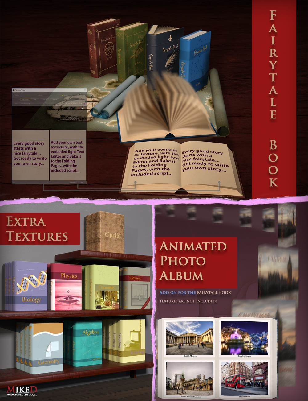 The Fairytale Book Bundle by: MikeD, 3D Models by Daz 3D