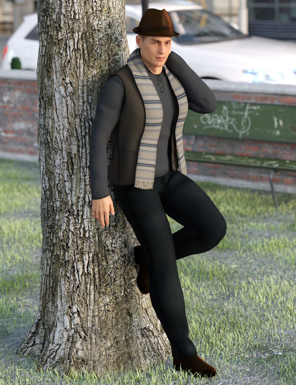 Rage Autumn for Genesis 8 Male(s) by: Ravenhair, 3D Models by Daz 3D