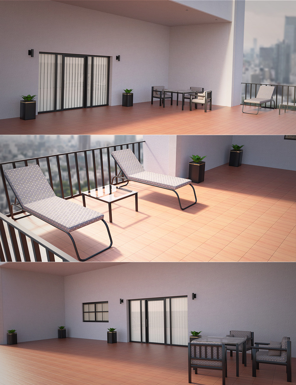 Hotel Balcony by: , 3D Models by Daz 3D