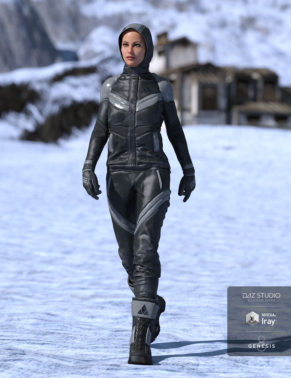 Winter Clothing for Genesis 8 Female(s) by: GolaM, 3D Models by Daz 3D