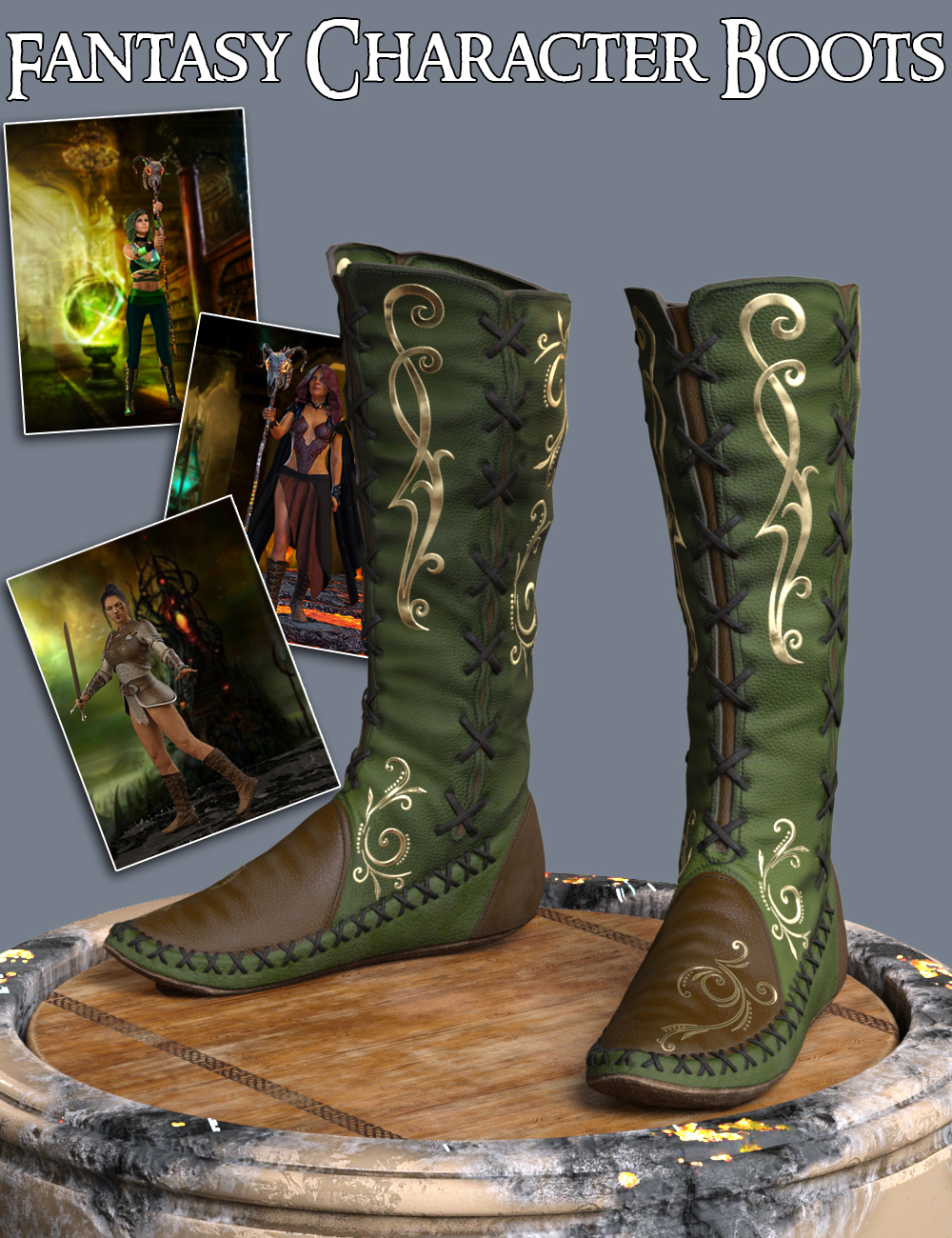 S3D FC Boots for Genesis 3 and 8 Female(s) by: Slide3D, 3D Models by Daz 3D