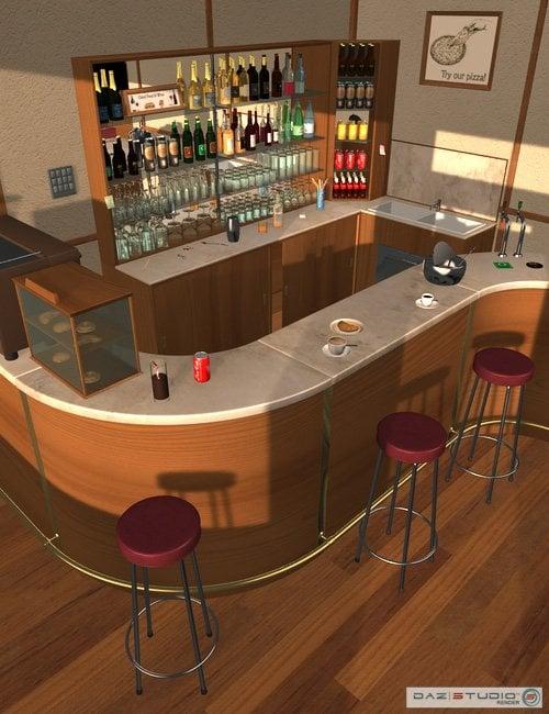 Bar Italia by: maclean, 3D Models by Daz 3D