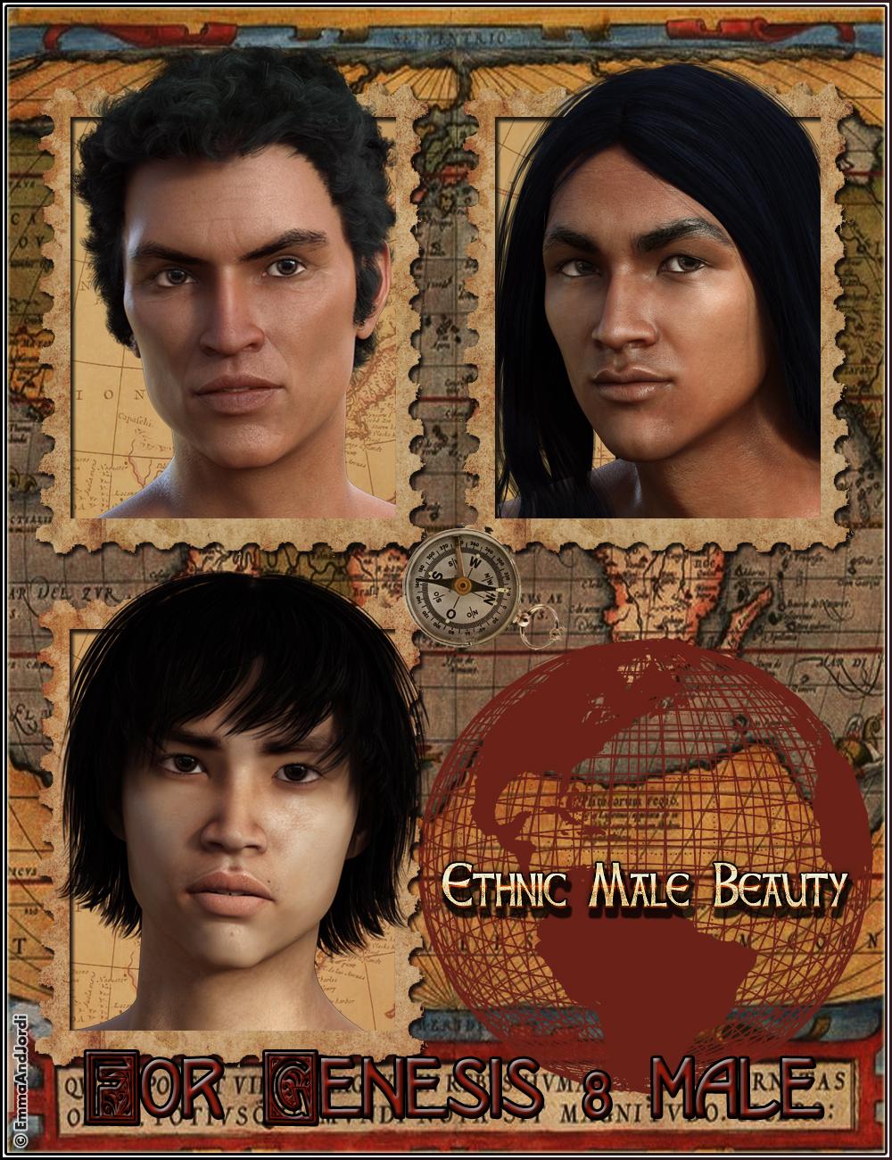 EJ Ethnic Male Beauty for Genesis 8 Male by: EmmaAndJordi, 3D Models by Daz 3D