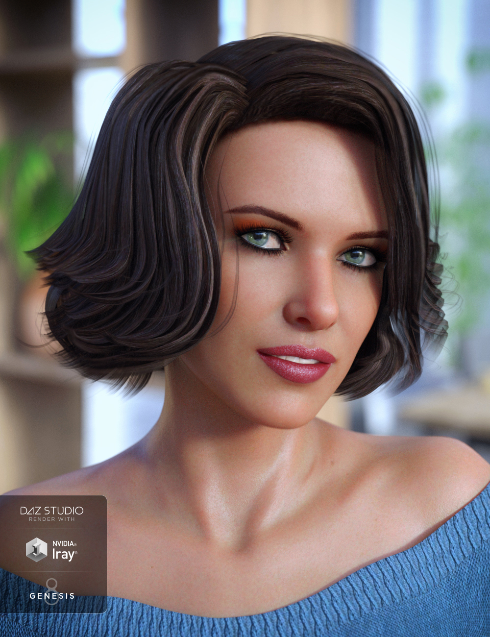 Starlette Hair for Genesis 3 and 8 Female(s) by: Propschick, 3D Models by Daz 3D