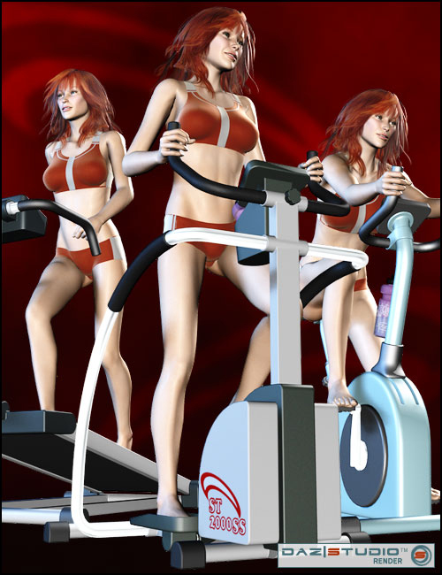 Exercise Equipment by: , 3D Models by Daz 3D