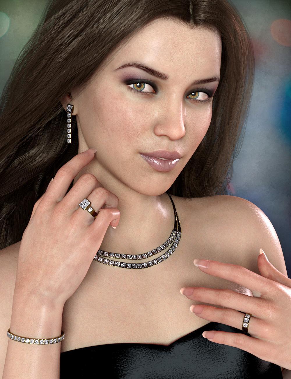 Classic Diamond Jewelry by: esha, 3D Models by Daz 3D