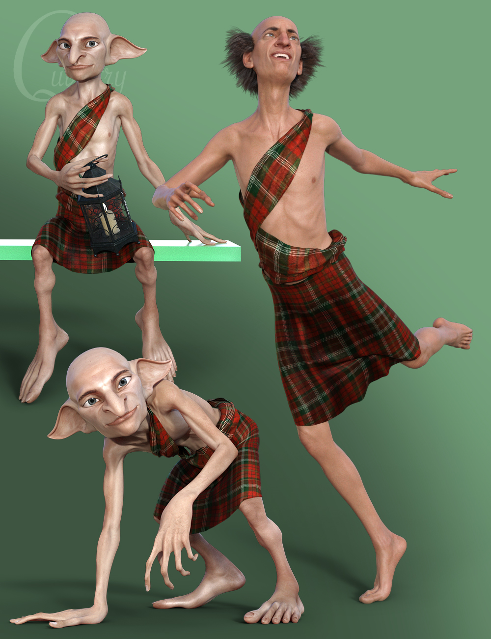 Quixotry's Poses for Boggles and Ollie 8 by: Quixotry, 3D Models by Daz 3D