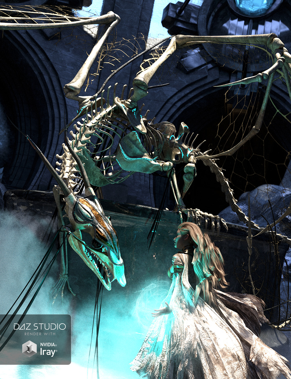 dForce Dragon Wraith Skeleton and Accessories by: ArkiForbiddenWhispers, 3D Models by Daz 3D