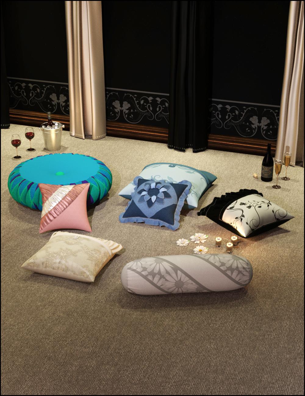 Decorative Pillows by: ARTCollab, 3D Models by Daz 3D