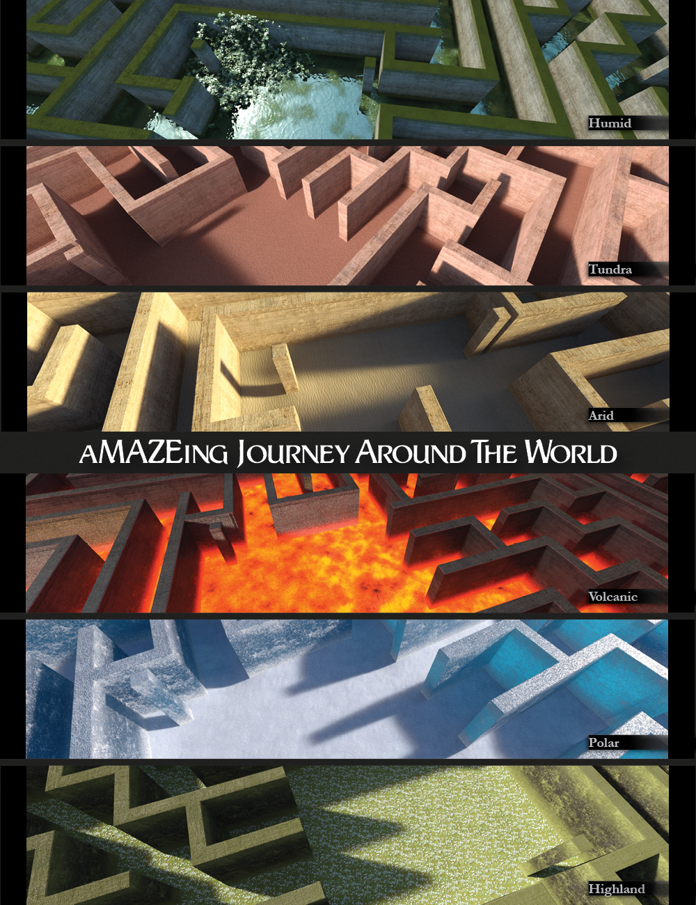aMAZEing Journey Around the World by: Marshian, 3D Models by Daz 3D