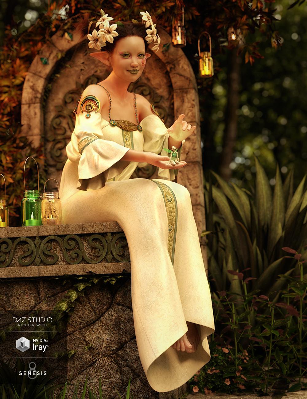 dForce Muse Dress for Genesis 8 Female(s) by: MadaArien, 3D Models by Daz 3D