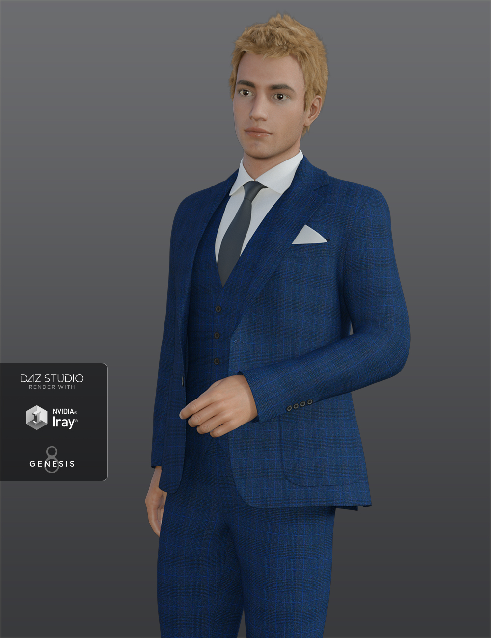 H&C Business Suit for Genesis 8 Male(s) by: IH Kang, 3D Models by Daz 3D