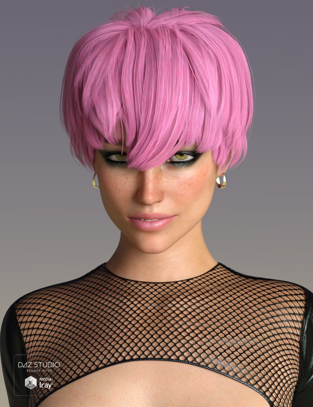 Melo Hair for Genesis 3 and 8 Female(s) by: SWAM, 3D Models by Daz 3D