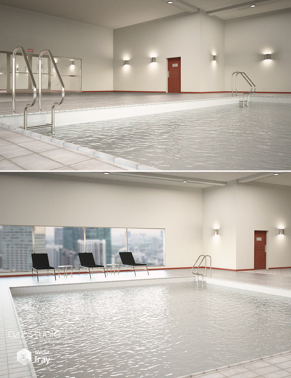 Hotel Indoor Pool by: , 3D Models by Daz 3D