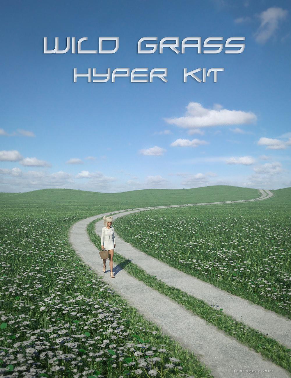 Wild Grass Hyper Kit by: Whitemagus, 3D Models by Daz 3D