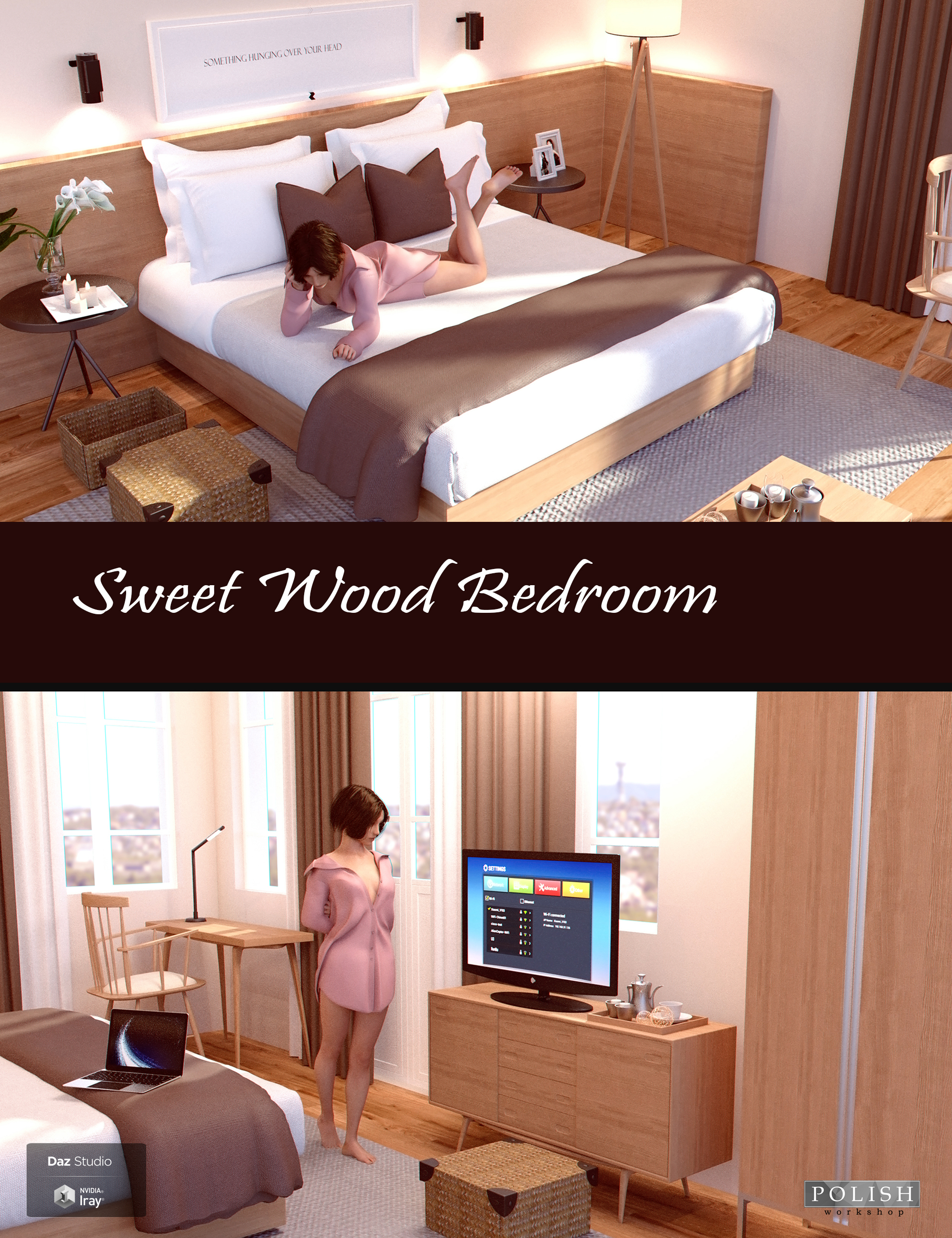 Sweet Wood Bedroom by: Polish, 3D Models by Daz 3D