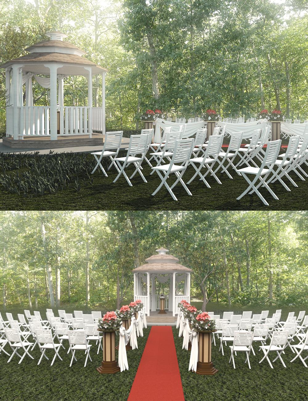 Garden Wedding by: Digitallab3D, 3D Models by Daz 3D