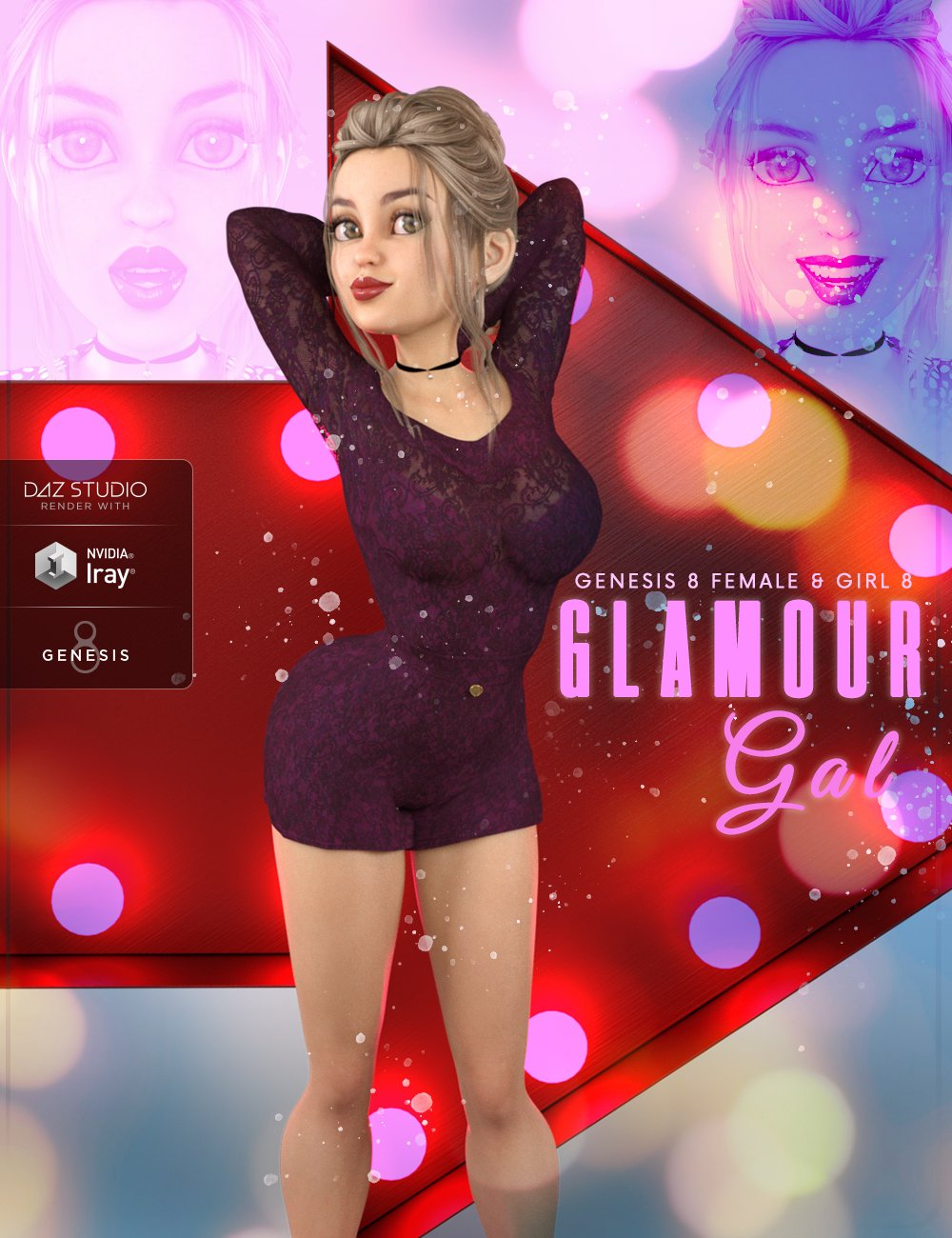 Z Glamour Gal - Poses and Expressions for The Girl 8 and Genesis 8 Female by: Zeddicuss, 3D Models by Daz 3D