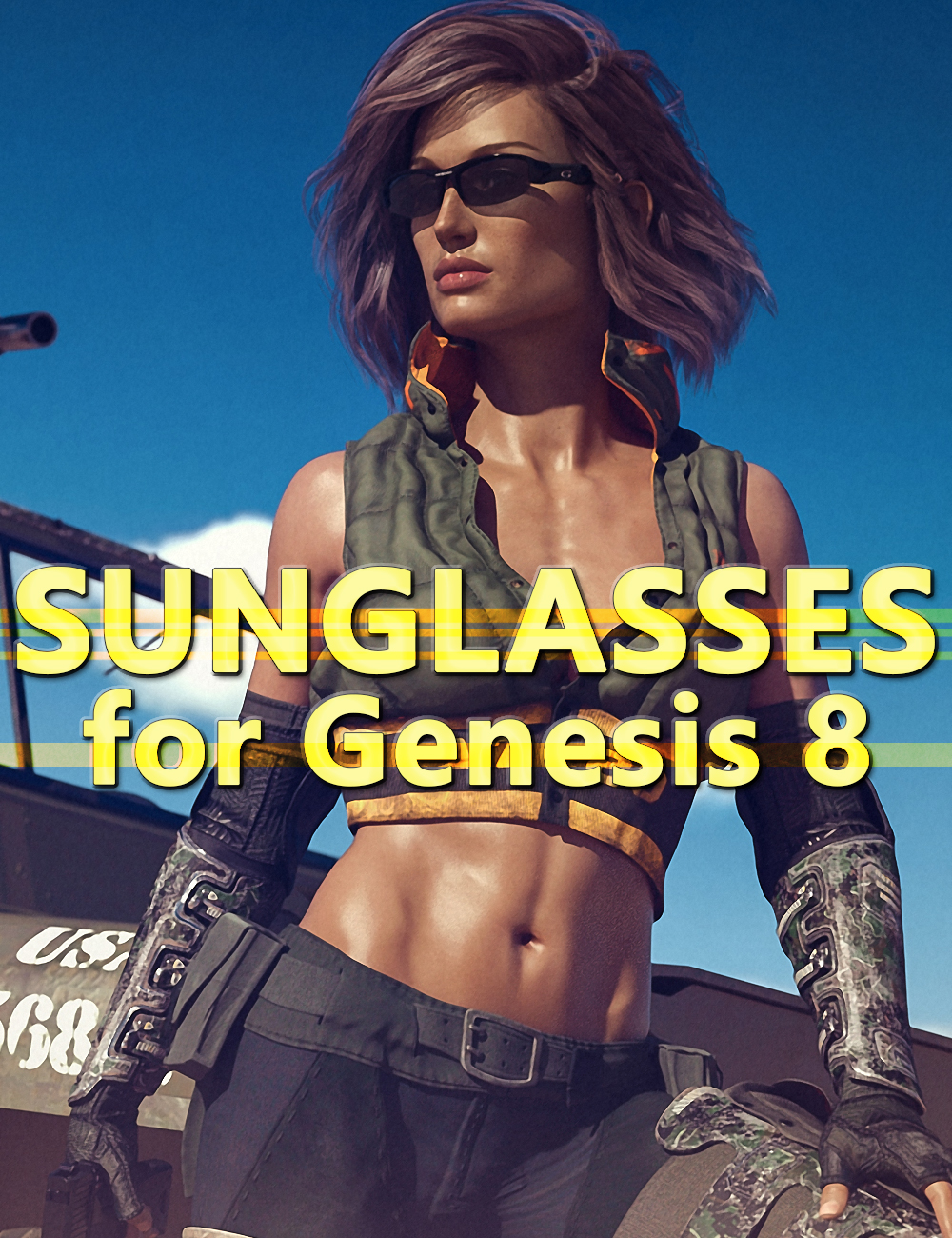 Sunglasses for Genesis 8 by: DarkEdgeDesign, 3D Models by Daz 3D
