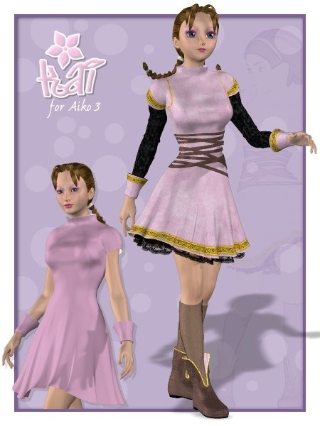 Kai Outfit by: Xena, 3D Models by Daz 3D