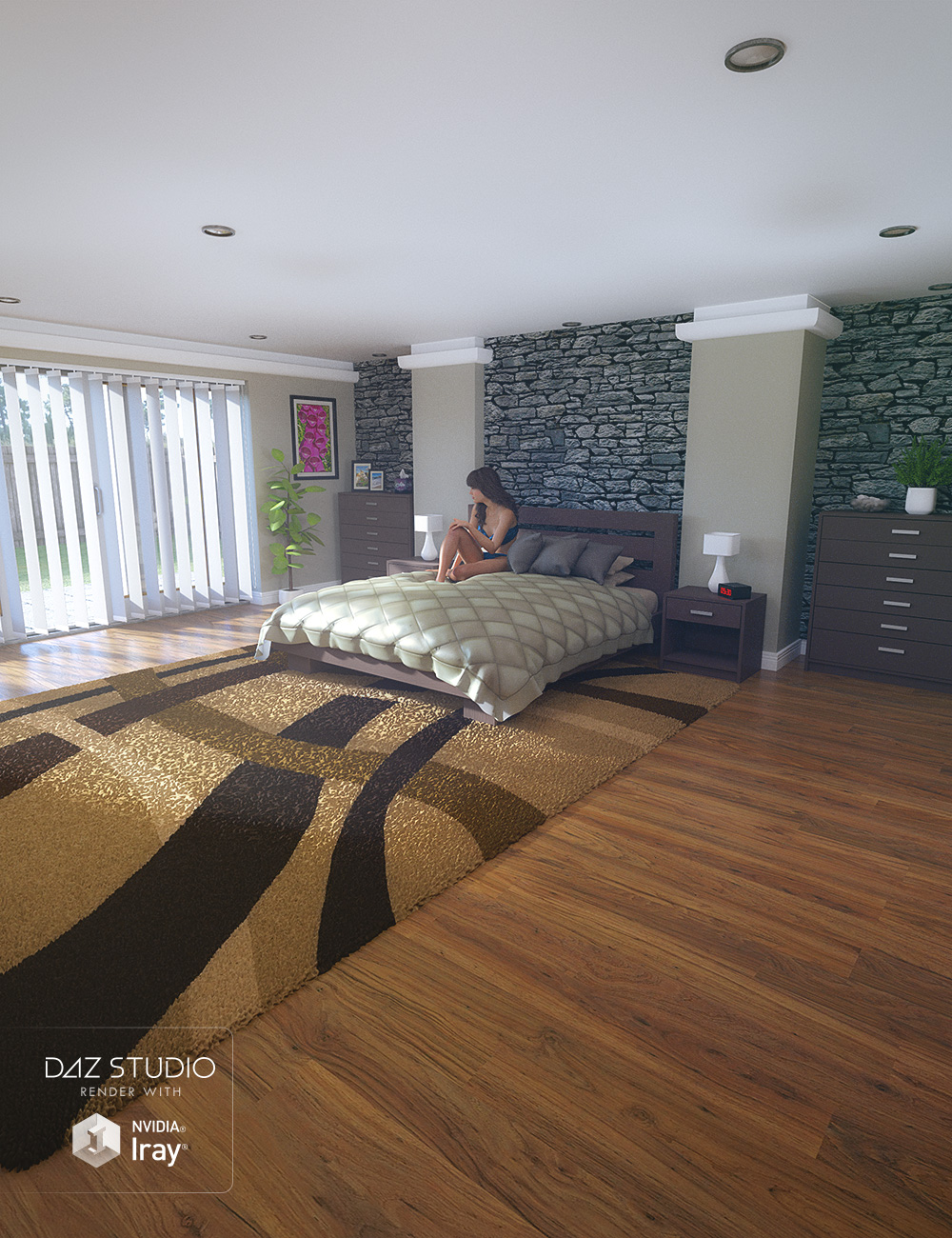 Granite Bedroom by: Predatron, 3D Models by Daz 3D