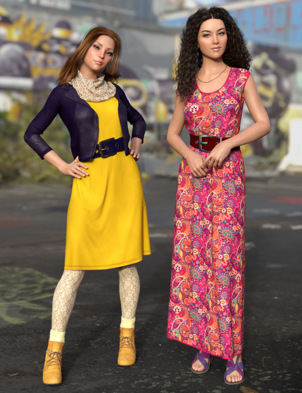 dForce All Seasons Outfit Texture Add-on by: esha, 3D Models by Daz 3D