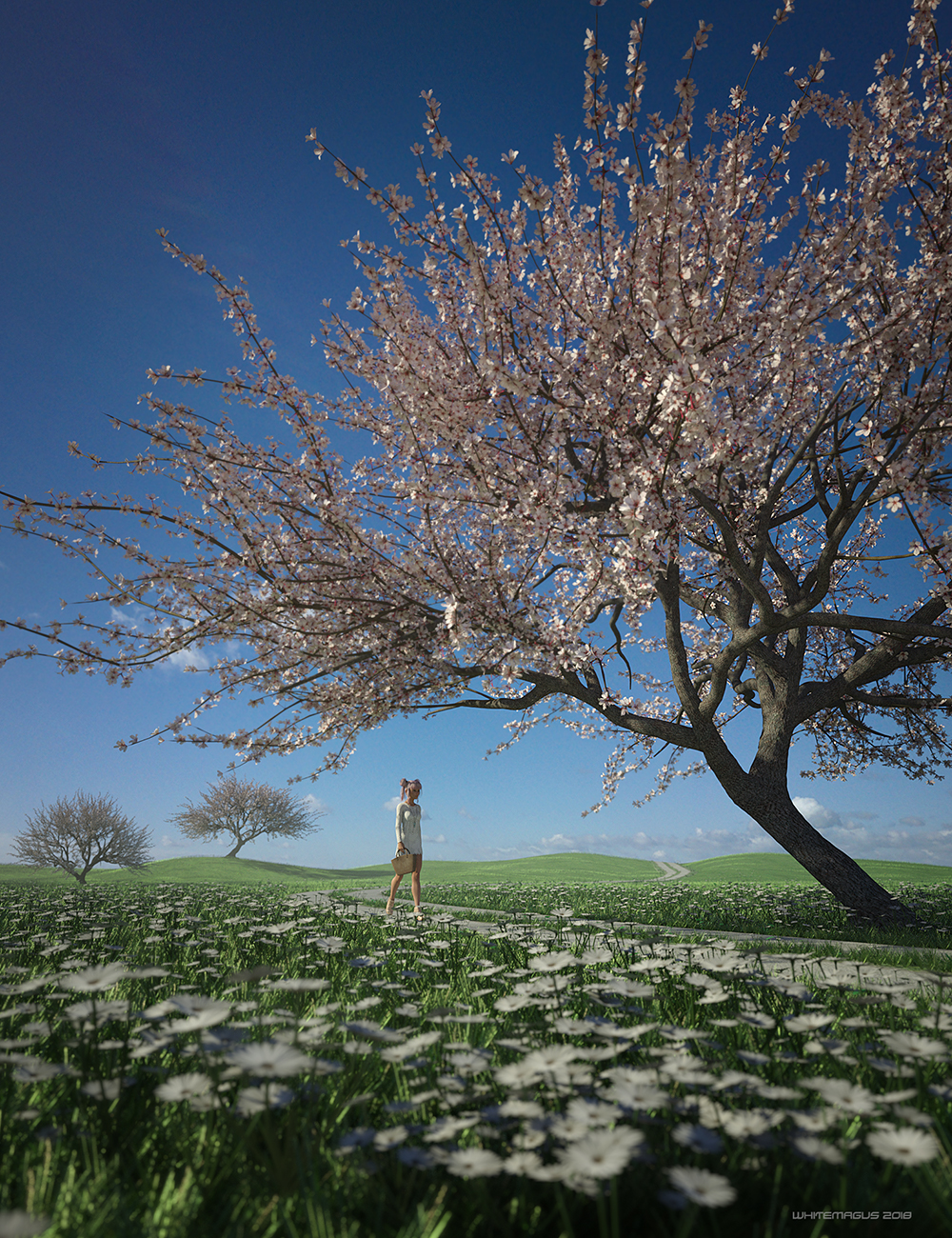 Sakura Ultimate Tree by: Whitemagus, 3D Models by Daz 3D