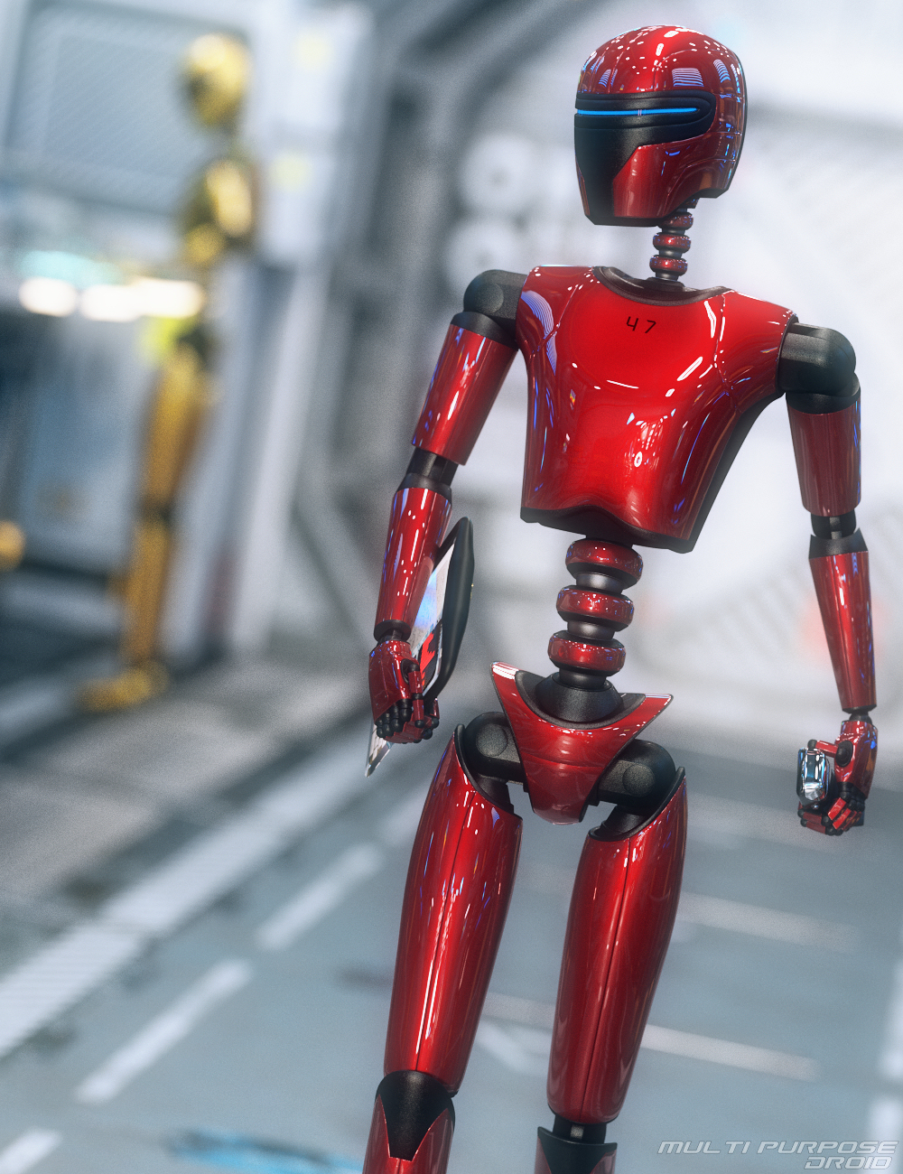 Multi Purpose Droid by: Mattymanx, 3D Models by Daz 3D