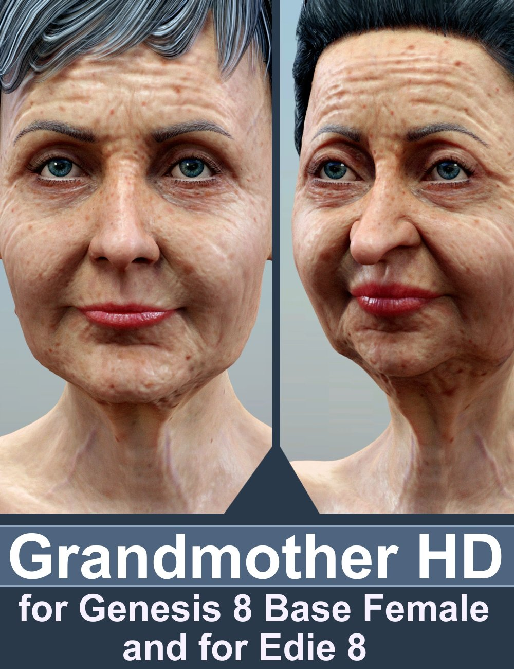 Grandmother HD for Genesis 8 Female and Edie 8 by: AlFan, 3D Models by Daz 3D