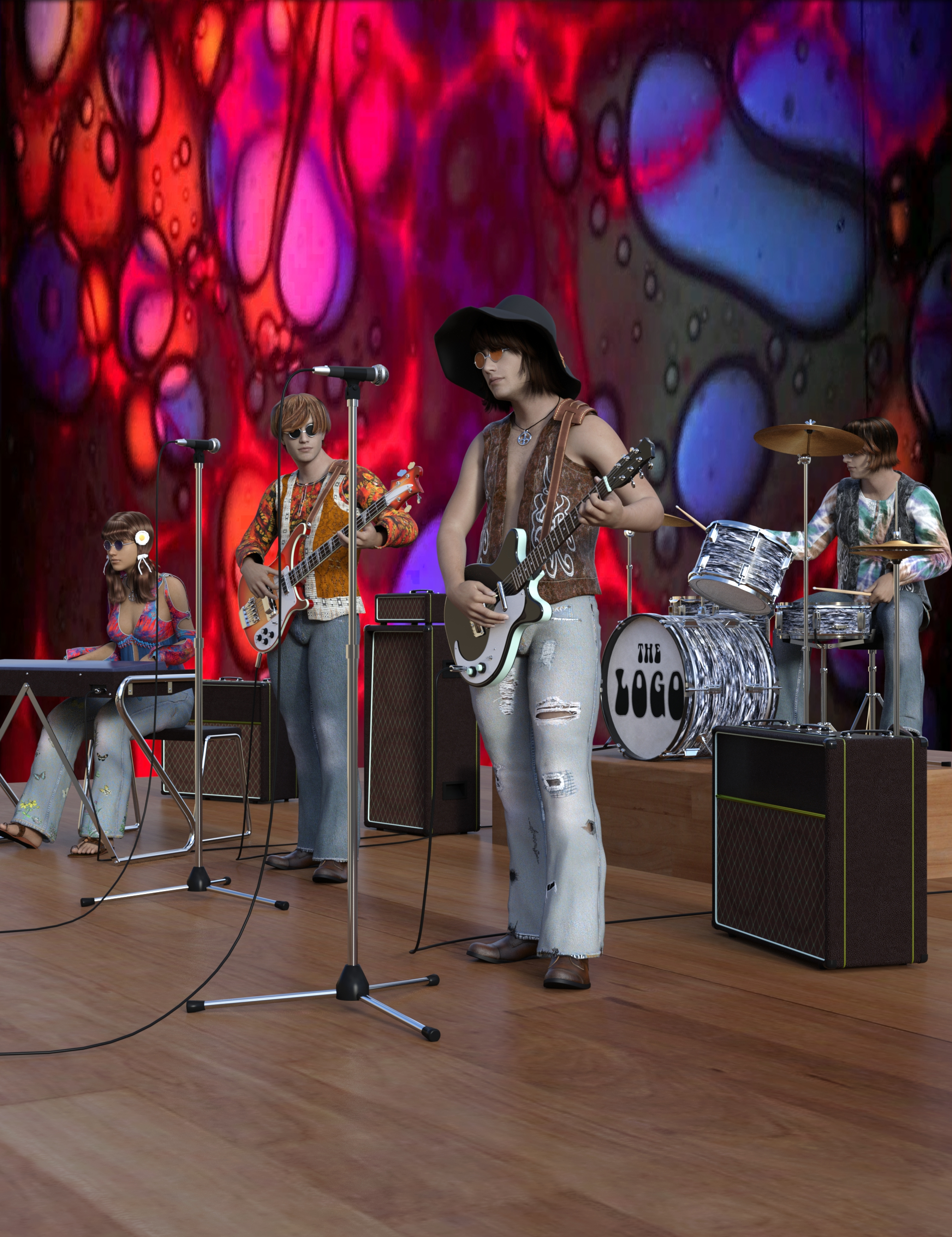 60s Band Equipment by: hypnagogia, 3D Models by Daz 3D