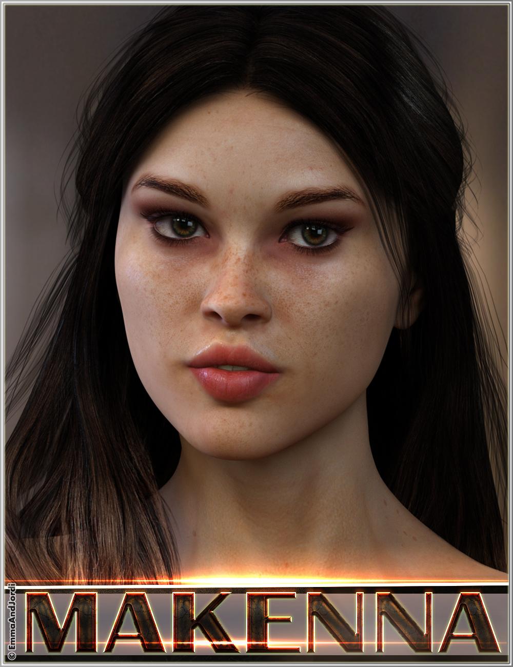 EJ Makenna For Genesis 8 Female by: EmmaAndJordi, 3D Models by Daz 3D