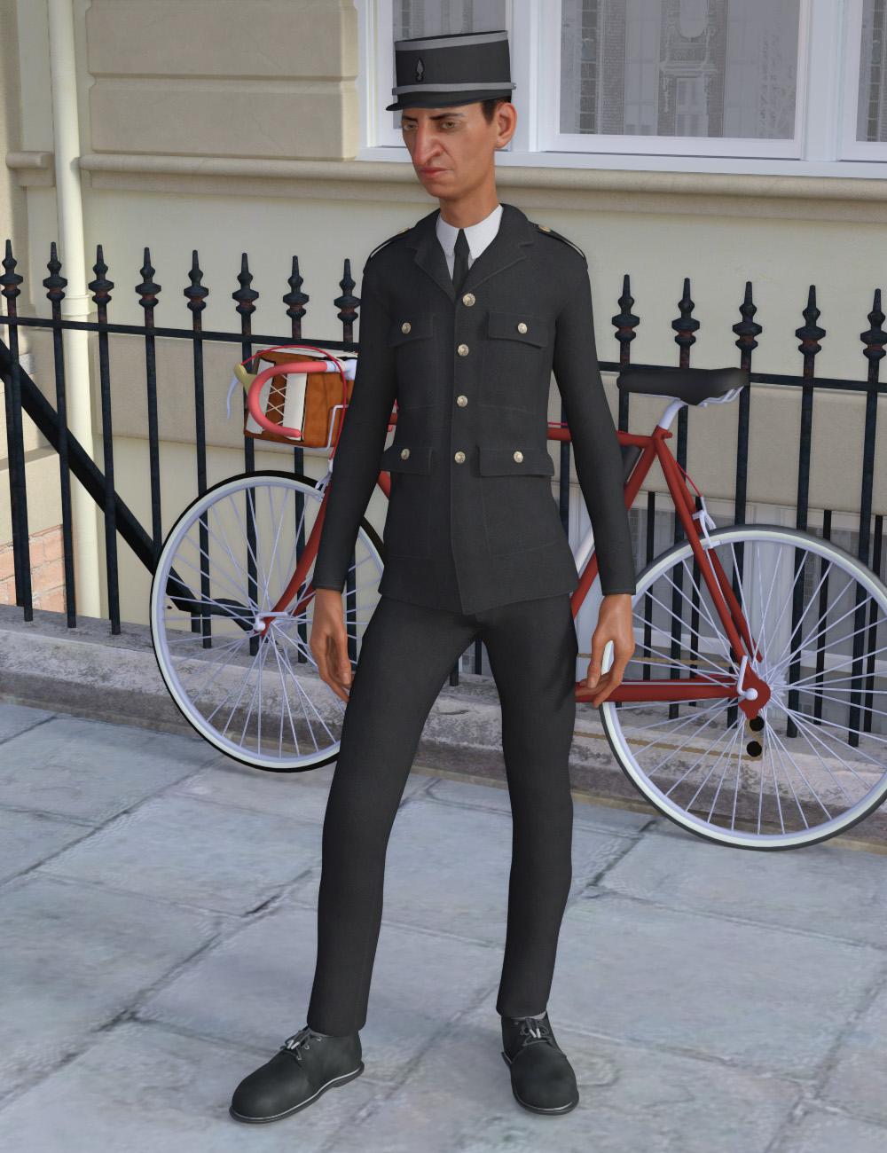 Inspector Uniform for Genesis 8 Male(s) by: Oskarsson, 3D Models by Daz 3D
